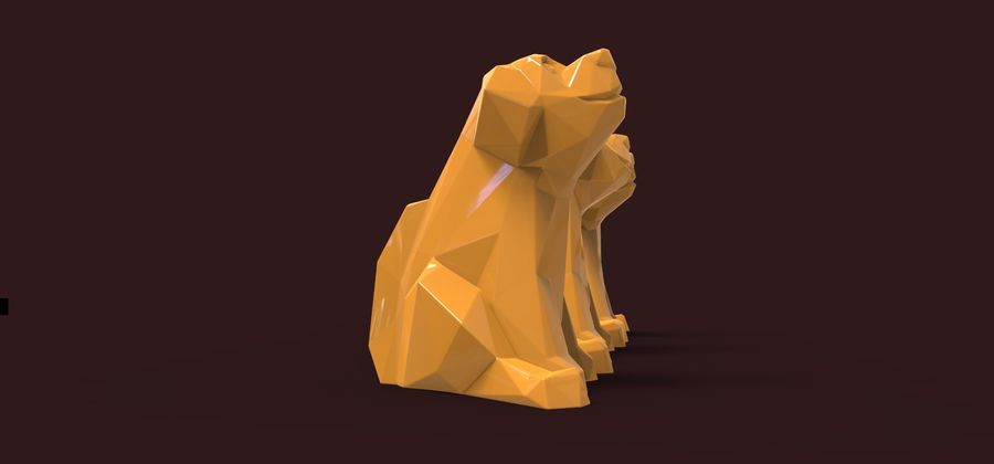 Dog Puppy 2018 royalty-free 3d model - Preview no. 1