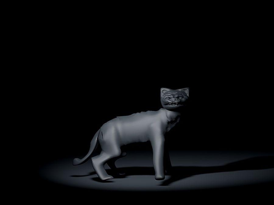 고양이 royalty-free 3d model - Preview no. 1
