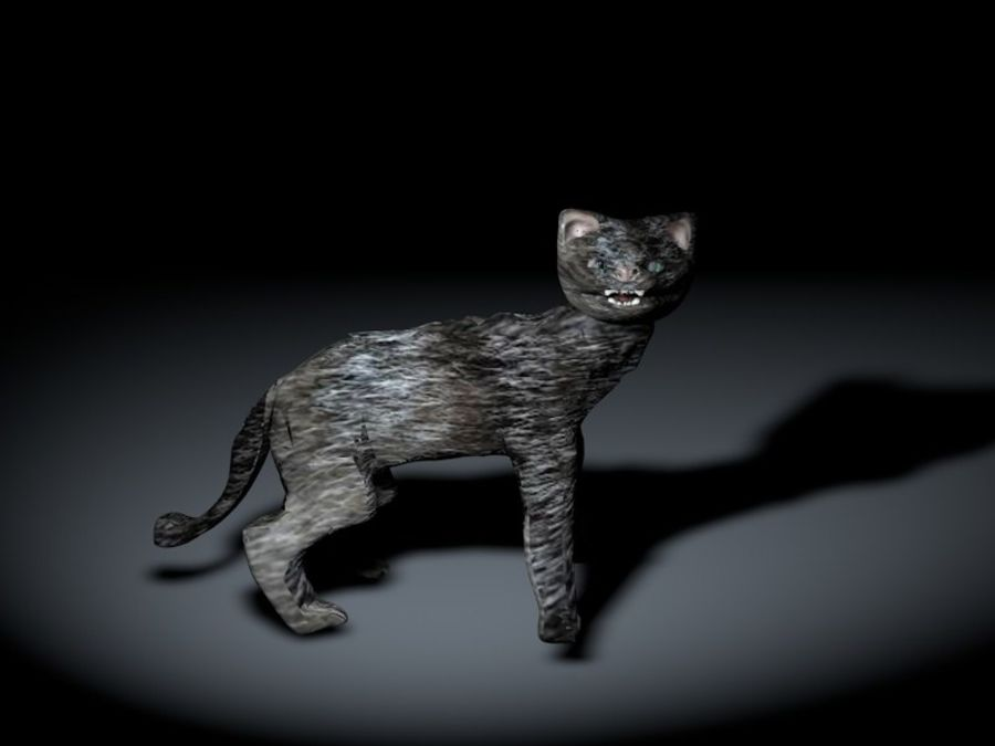 猫 royalty-free 3d model - Preview no. 5