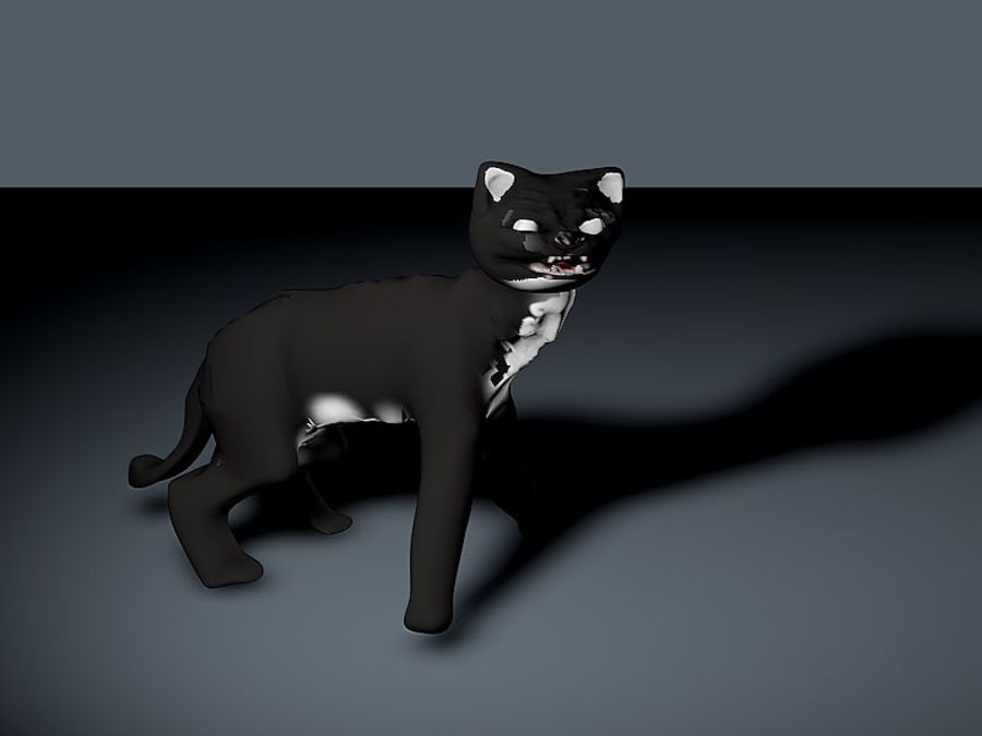 猫 royalty-free 3d model - Preview no. 3