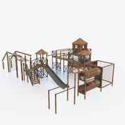 Speeltuin buiten 3d model
