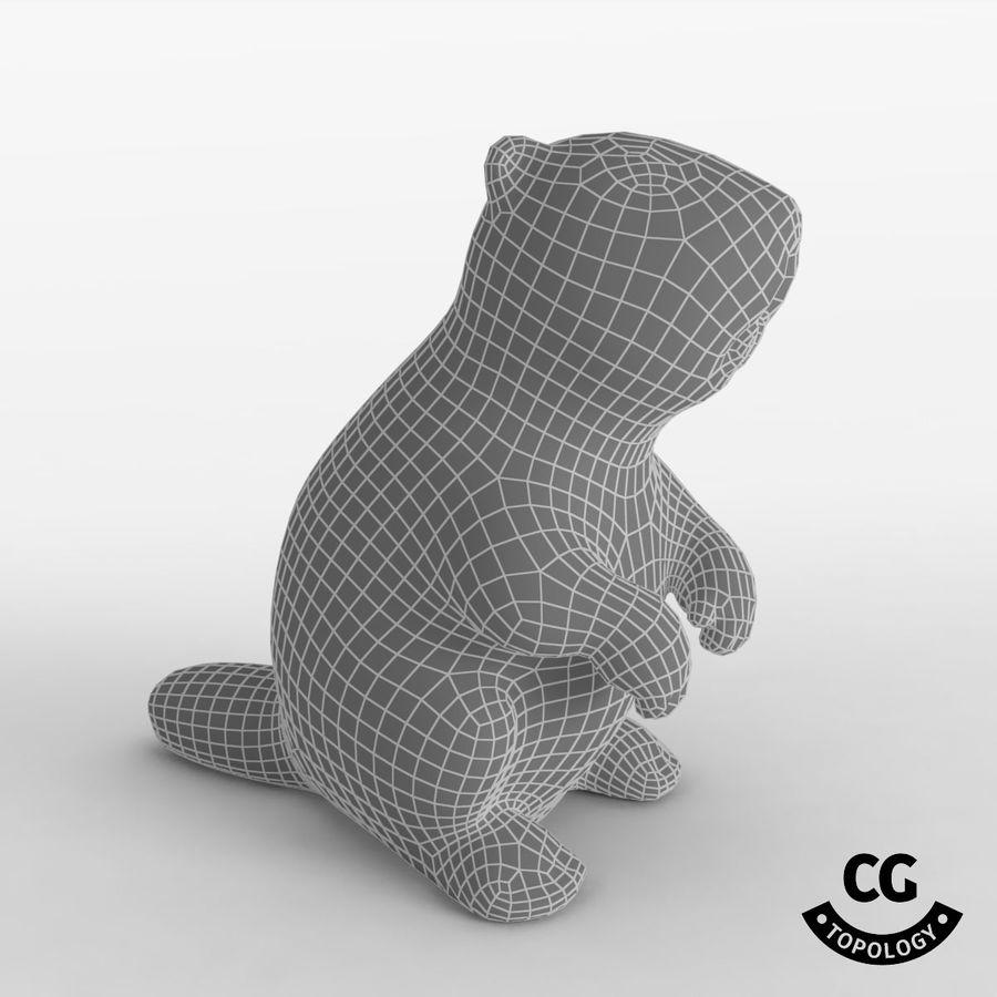 沐浴玩具BEAVER royalty-free 3d model - Preview no. 4