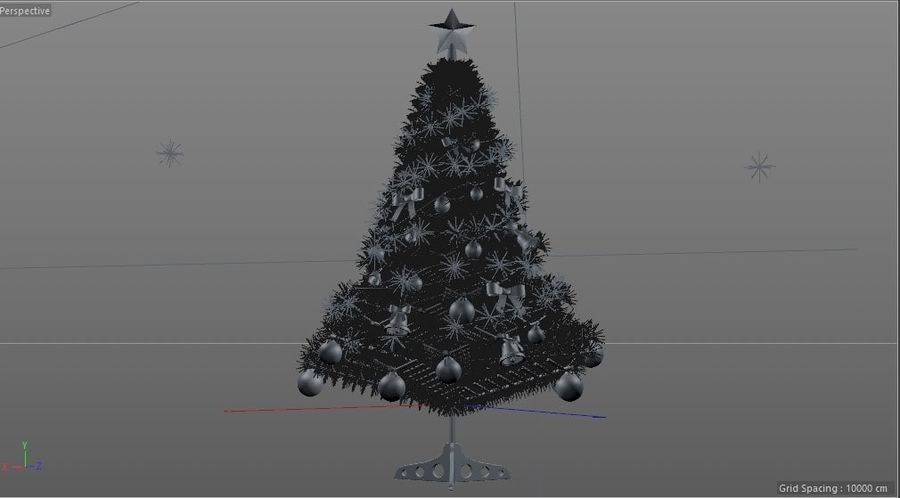 Christmas Tree royalty-free 3d model - Preview no. 8