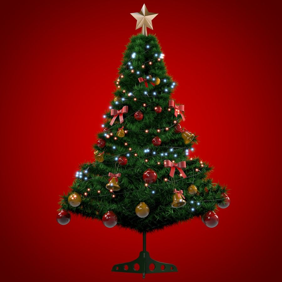 Christmas Tree royalty-free 3d model - Preview no. 7
