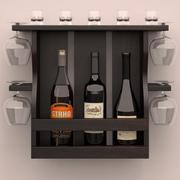 와인 선반 3d model