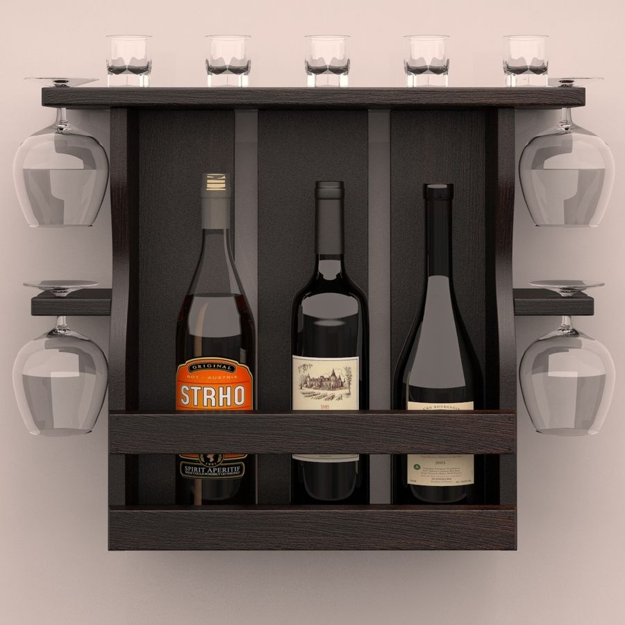 Wine rack royalty-free 3d model - Preview no. 1