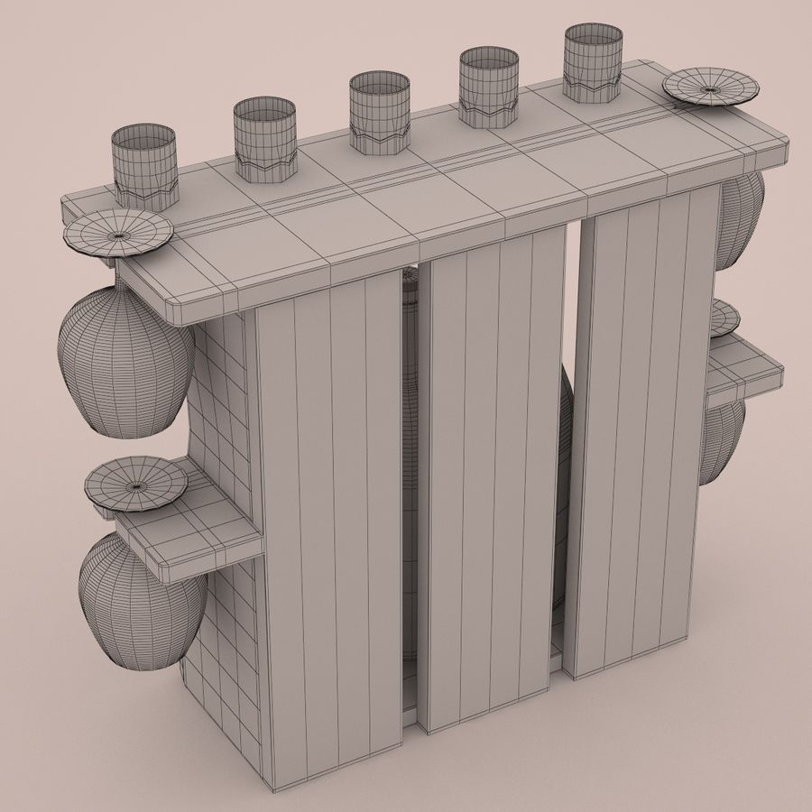 Wine rack royalty-free 3d model - Preview no. 8