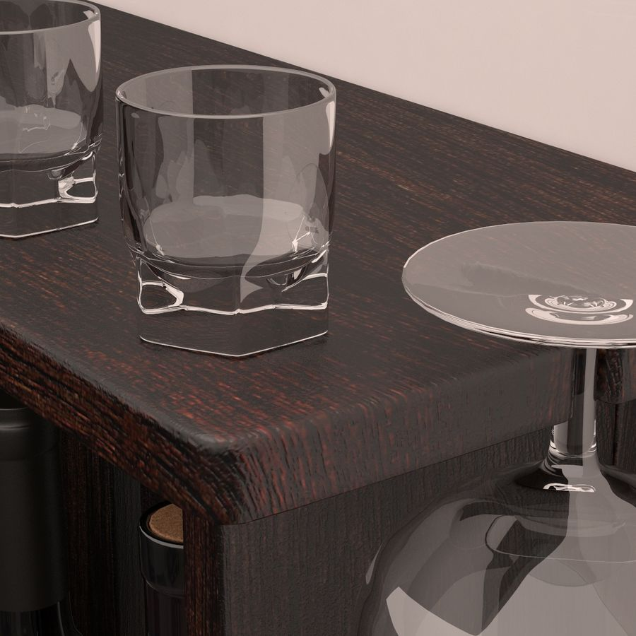Wine rack royalty-free 3d model - Preview no. 5