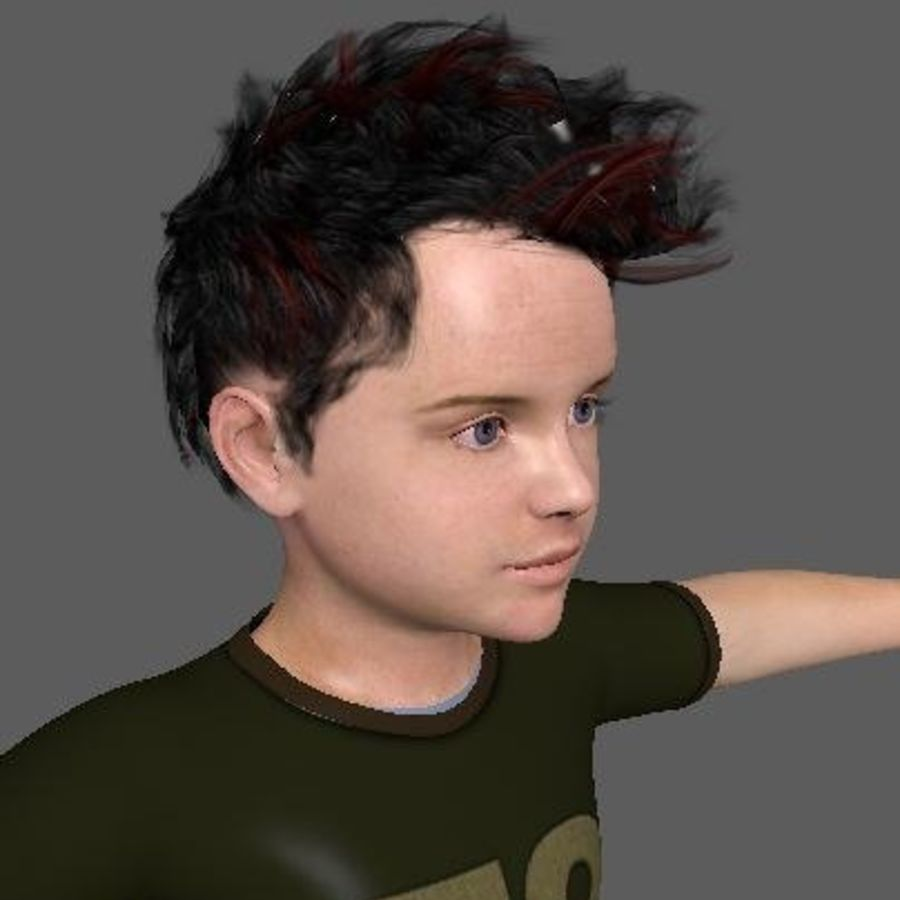 Boy Child royalty-free 3d model - Preview no. 5