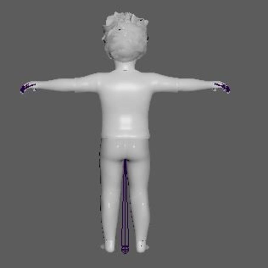 Boy Child royalty-free 3d model - Preview no. 7
