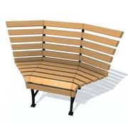 通常的长凳L 3d model