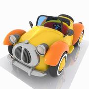 Toon Convertible Car 3d model