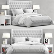 RH Teen Zadie Tufted bed 3d model