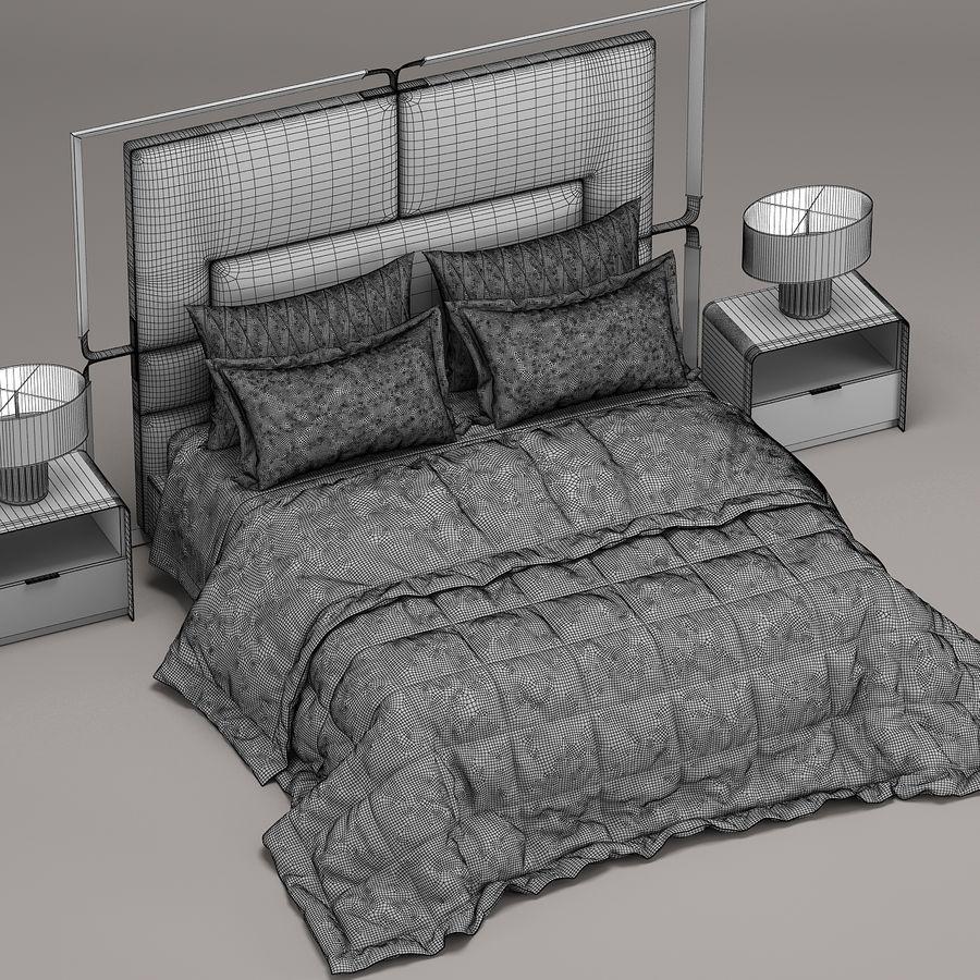 Rugiano Grace yatak royalty-free 3d model - Preview no. 6