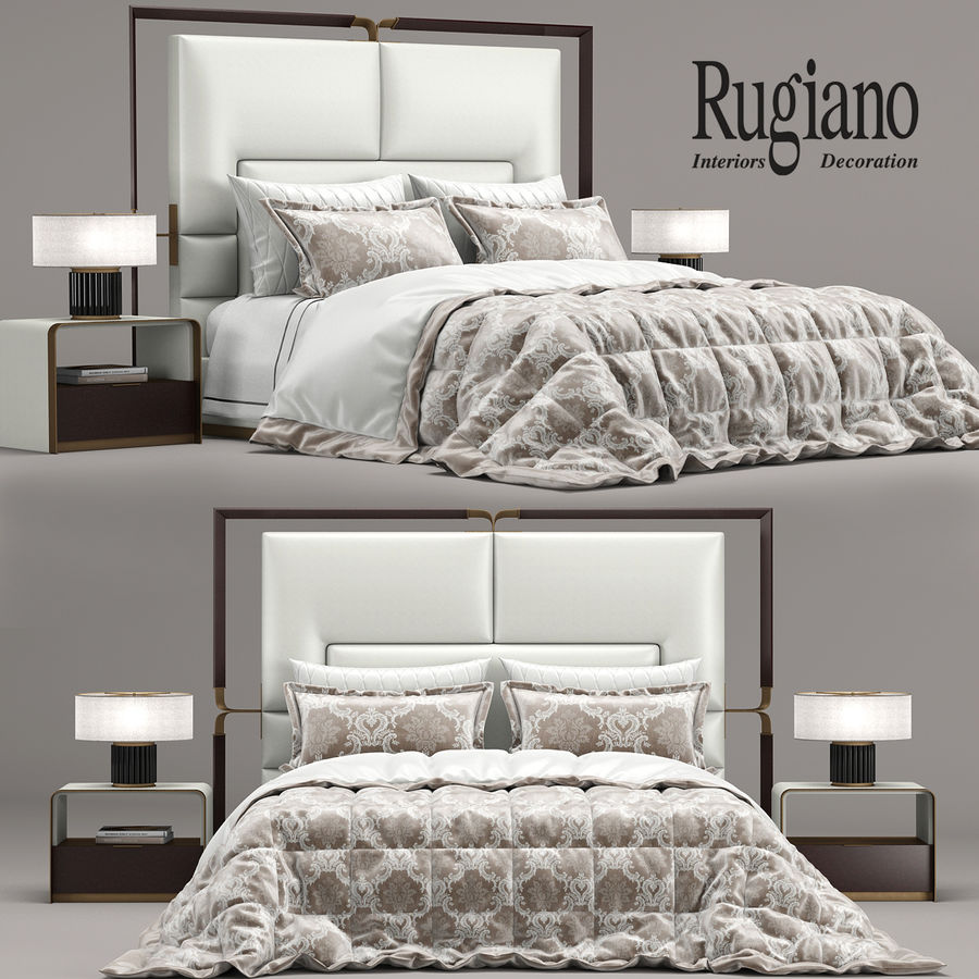 Rugiano Grace yatak royalty-free 3d model - Preview no. 1