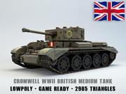 Cromwell Medium Tank Lowpoly 3d model