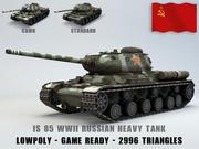 IS 85 Ussr Heavy Tank Lowpoly 3d model
