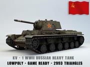 KV I Ussr Heavy Tank Lowpoly 3d model