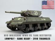 M10 Wolverine USA Tank Destroyer Lowpoly 3d model