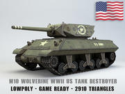 M10 Wolverine USA Tank Destroyer Lowpoly 3d model