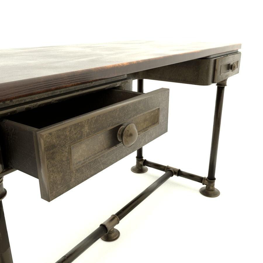 Industrial Desk royalty-free 3d model - Preview no. 4