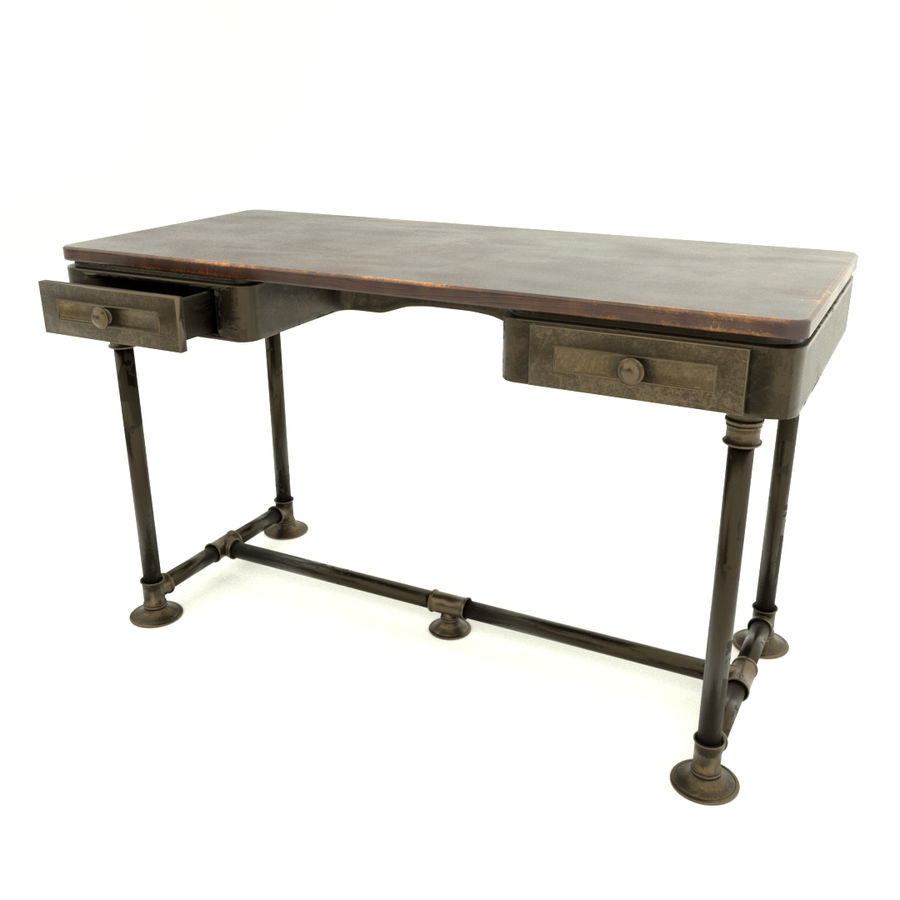 Industrial Desk royalty-free 3d model - Preview no. 1