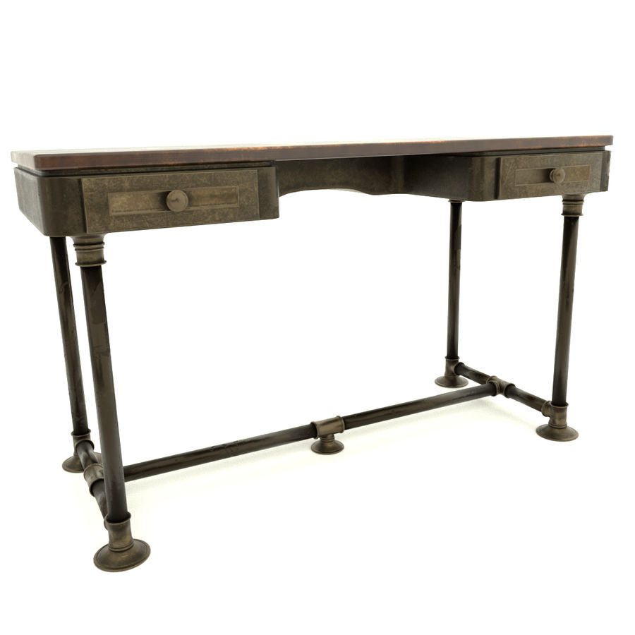 Industrial Desk royalty-free 3d model - Preview no. 3