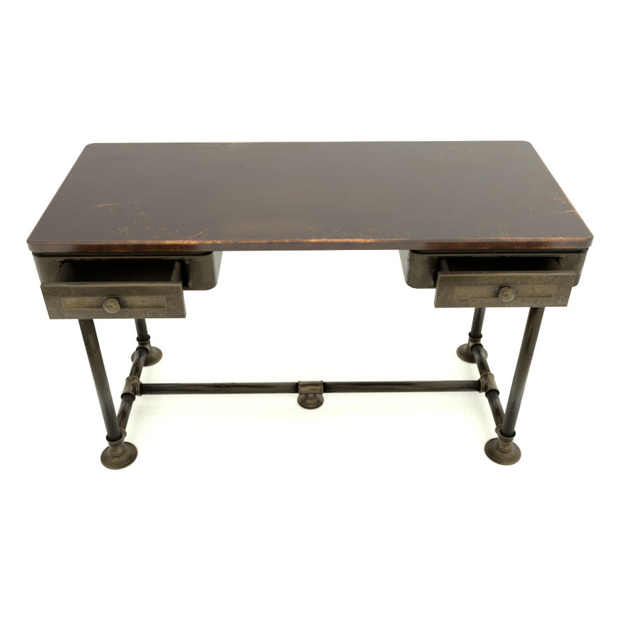 Industrial Desk royalty-free 3d model - Preview no. 5