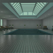Indoor pool 3d model