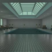 Indoor pool 3d model