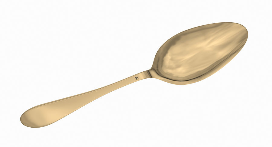 Spoon B (Textured) royalty-free 3d model - Preview no. 36