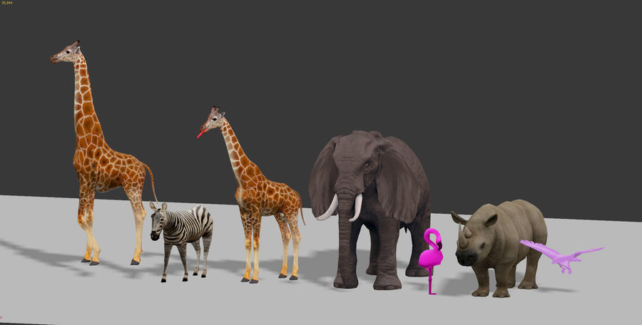 africa animals royalty-free 3d model - Preview no. 1