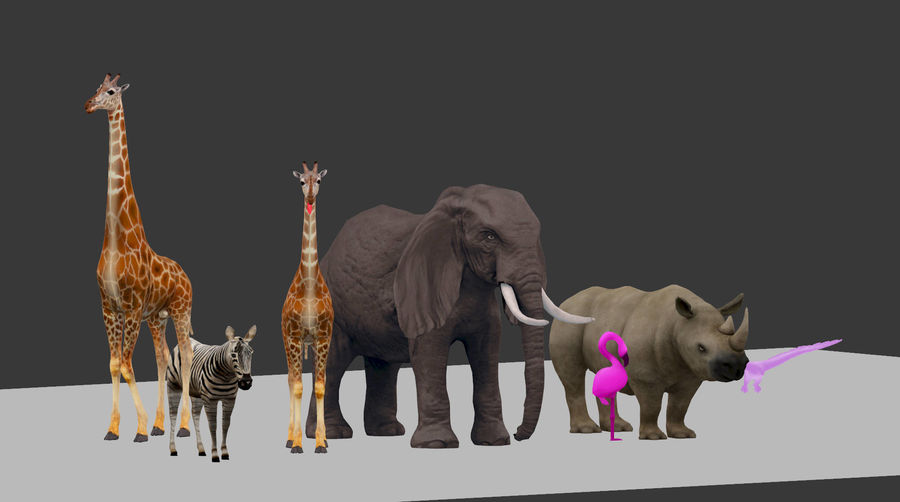 africa animals royalty-free 3d model - Preview no. 9