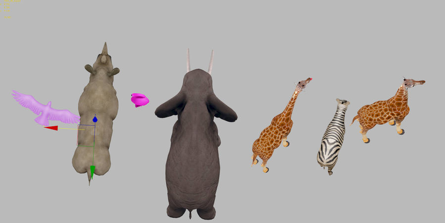 africa animals royalty-free 3d model - Preview no. 5