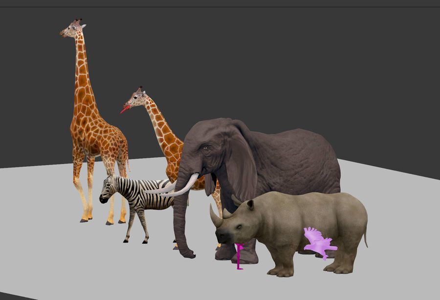 africa animals royalty-free 3d model - Preview no. 3