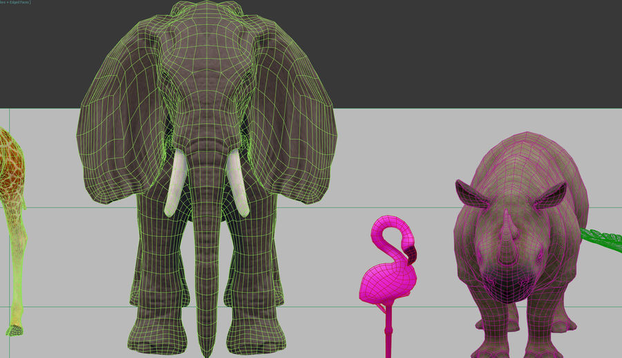 africa animals royalty-free 3d model - Preview no. 13