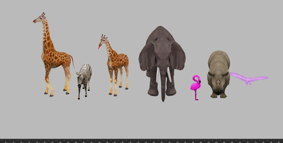 africa animals royalty-free 3d model - Preview no. 8