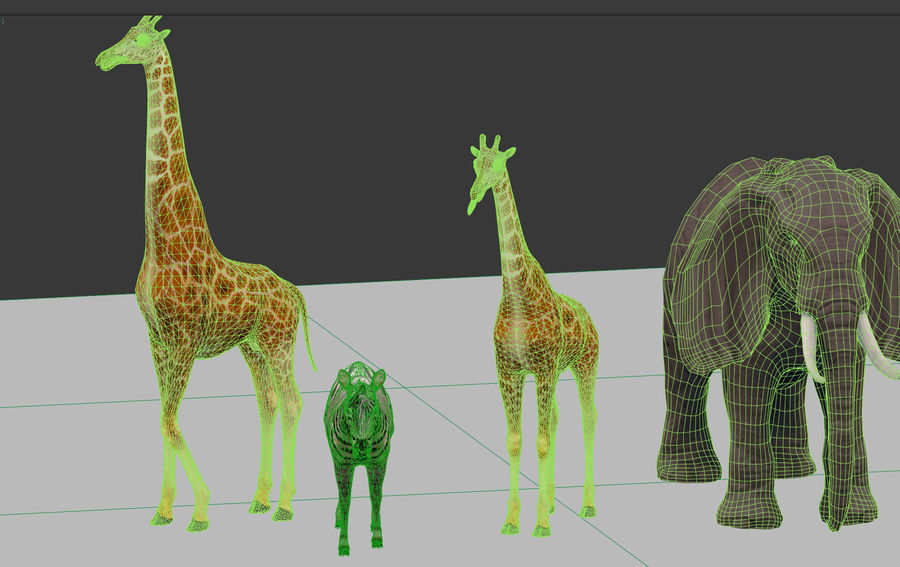 africa animals royalty-free 3d model - Preview no. 14