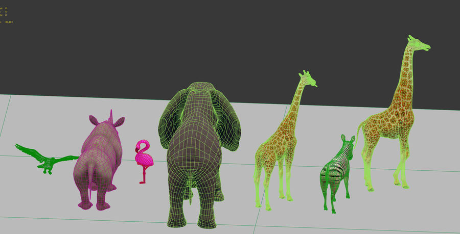 africa animals royalty-free 3d model - Preview no. 15