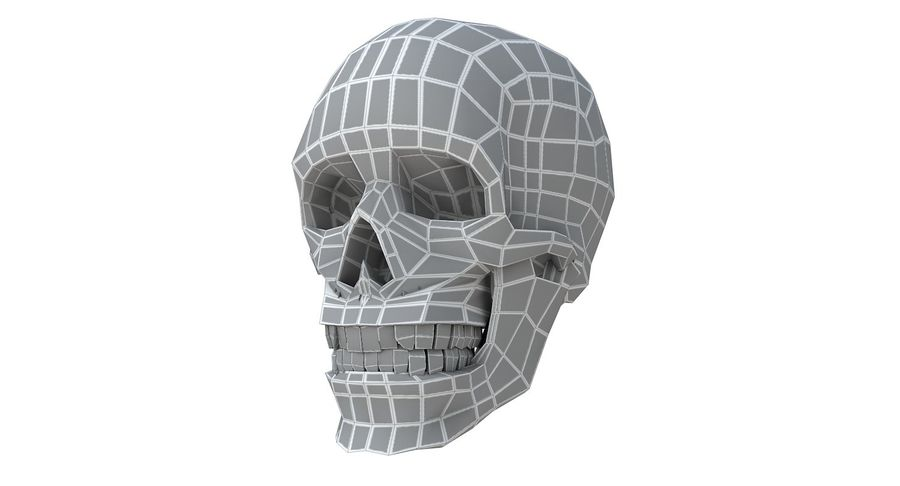 Skull without texture royalty-free 3d model - Preview no. 17