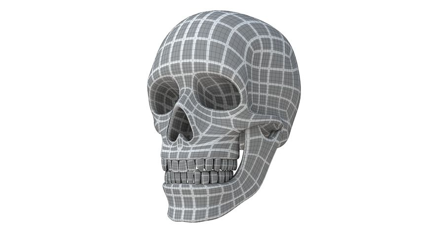 Skull without texture royalty-free 3d model - Preview no. 19