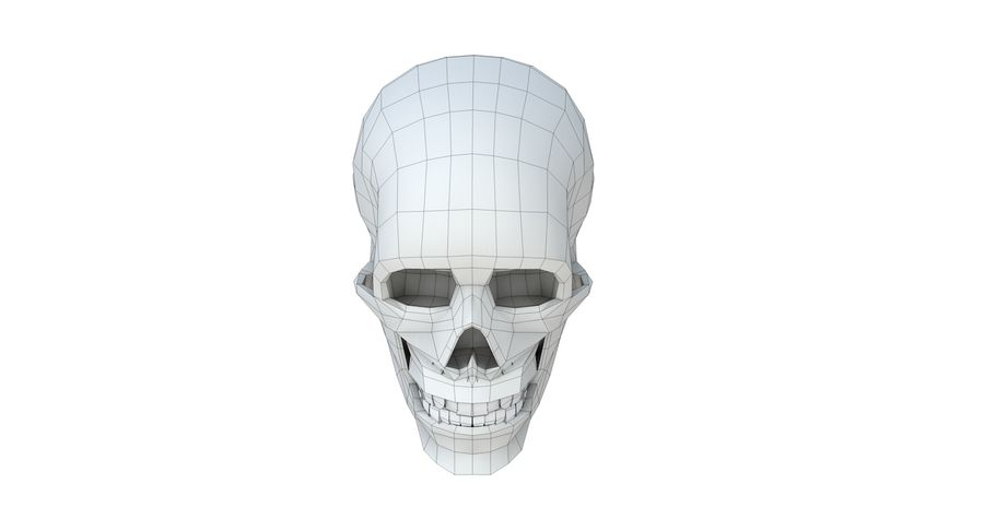 Skull without texture royalty-free 3d model - Preview no. 15