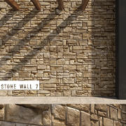 3D Seamless Stone Wall 7 3d model