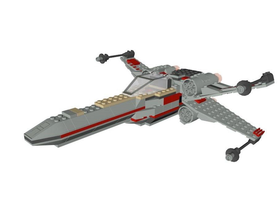 Combattant X-Wing LEGO Star Wars royalty-free 3d model - Preview no. 1