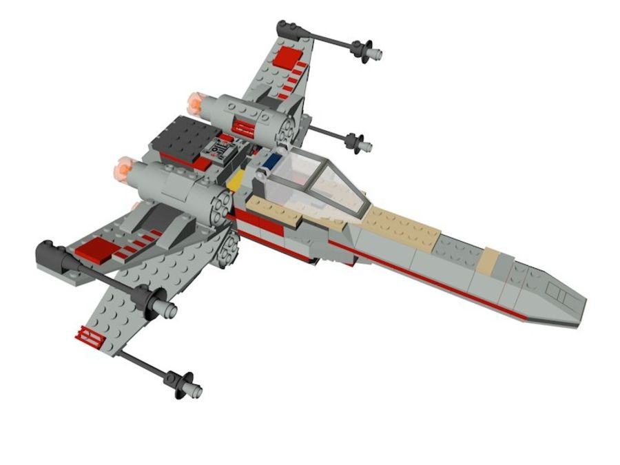 Combattant X-Wing LEGO Star Wars royalty-free 3d model - Preview no. 5