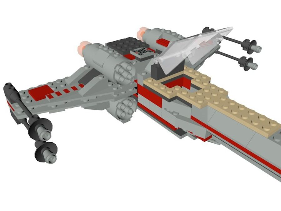 Combattant X-Wing LEGO Star Wars royalty-free 3d model - Preview no. 6