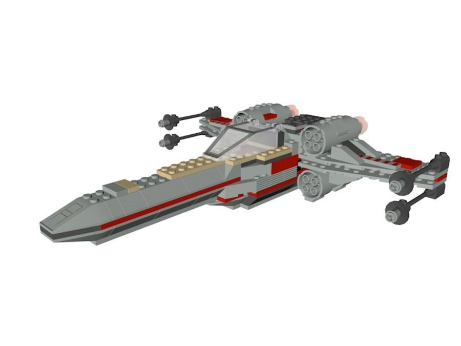 Combattant X-Wing LEGO Star Wars royalty-free 3d model - Preview no. 2