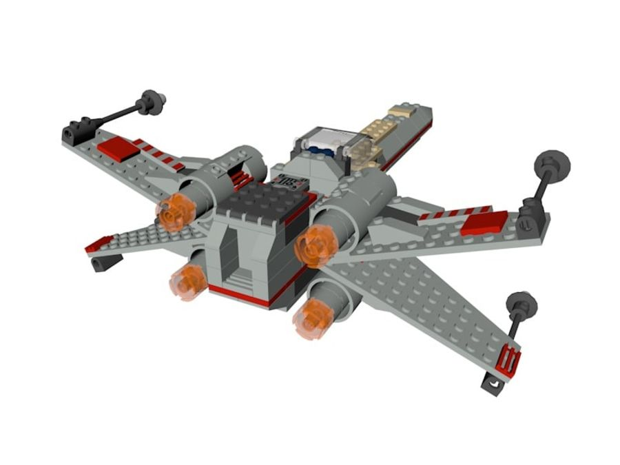 Combattant X-Wing LEGO Star Wars royalty-free 3d model - Preview no. 4