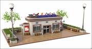 Turist Bilgi Binası 3d model