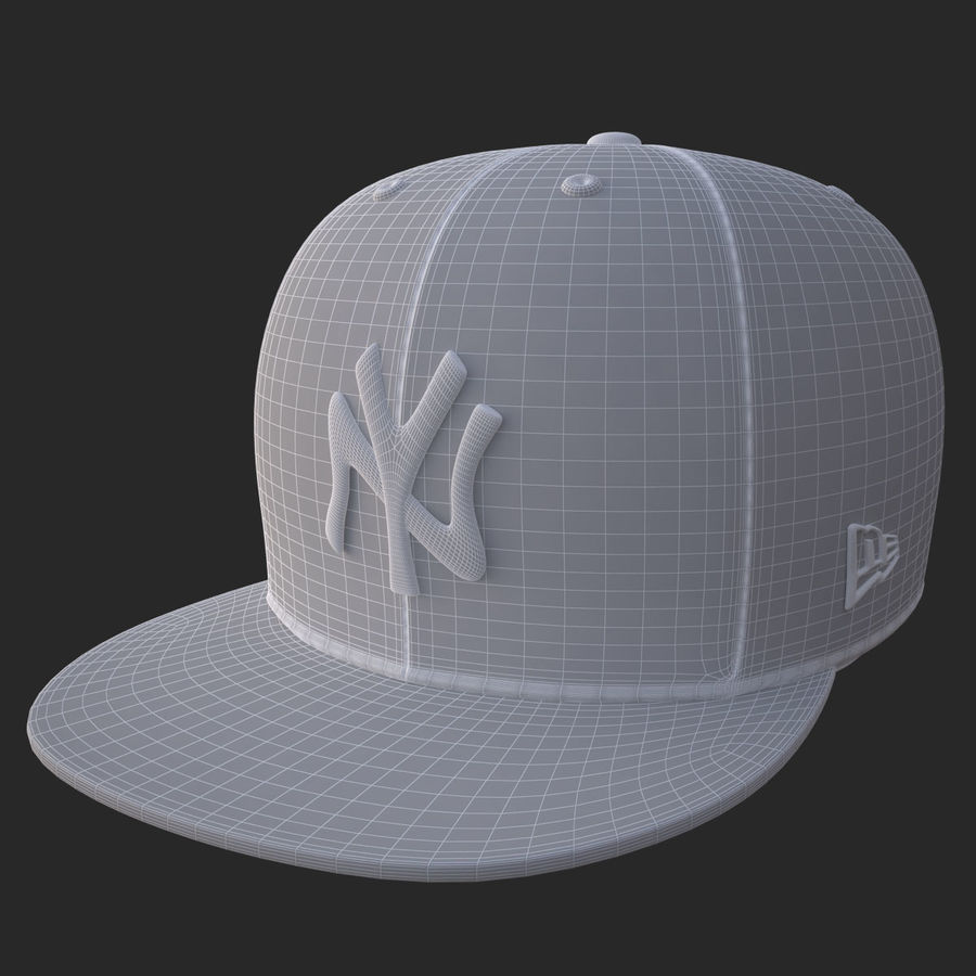 棒球帽 royalty-free 3d model - Preview no. 20